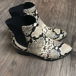 Call it Spring Snakeskin booties